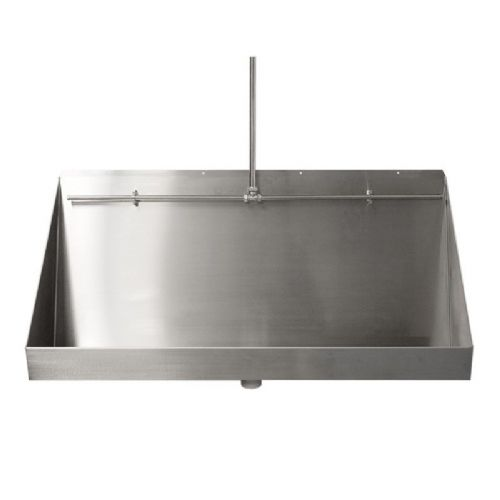 Franke Centinel G20120N 1200mm Wall-Mounted Stainless Steel Urinal Trough with Exposed Cistern